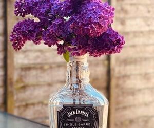 flowers, jack daniels, and purple image