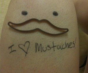 mustache, branquela, and silly band image