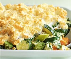 leeks, courgette, and brie image