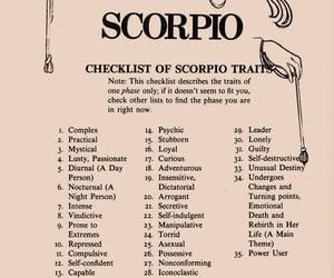 horoscope, scorpio, and zodiac signs image