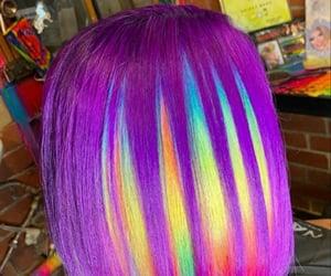 colors, rainbow hair, and purple image