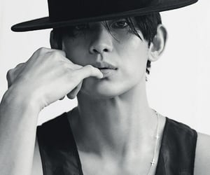 actor, black and white, and korean image