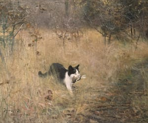 Cat Hunting by Bruno Liljefors, 1883