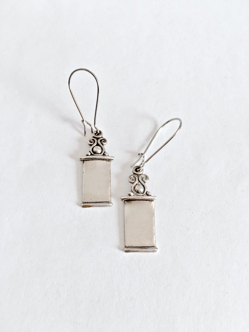 etsy, dangle earrings, and estate jewelry image