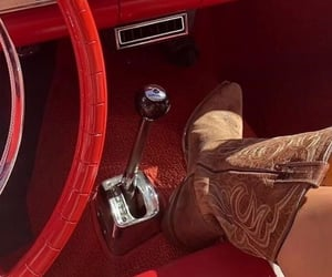 aesthetic, car, and cowboy boots image