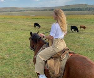 girl, horse, and aesthetic image