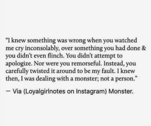 apologize, monster, and sad image