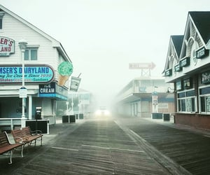 boardwalk, maryland, and beach town image