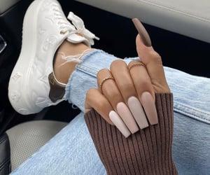 brown, fashion, and nails image