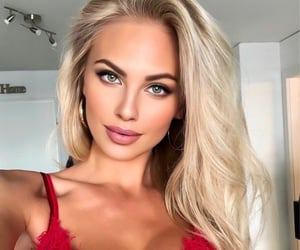 blonde, barbie, and beauty image