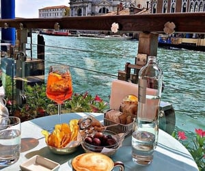 food, travel, and venice image