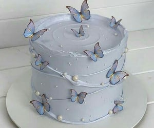 cake, food, and butterfly image