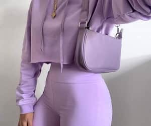 chic, lilac, and outfit image
