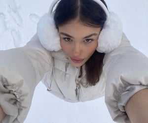 angel, snow, and snowboarding image