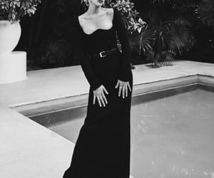 black and white, editorial, and bella hadid image