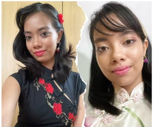 chinese new year, makeup, and traditional image