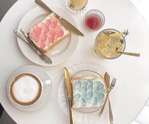 coffee, food, and pastel image