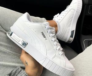 white, puma, and shoes image