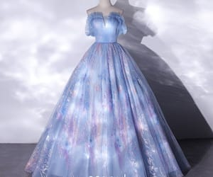 ball gown, glitter, and elegant image