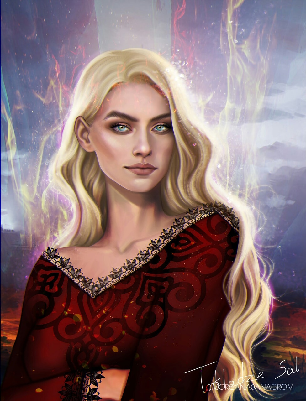 throne of glass and aelin image
