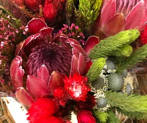 bouquet, red, and Valentine's Day image