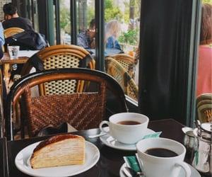 afternoon, cafe, and food image