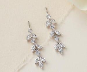 bridal, drop, and earrings image