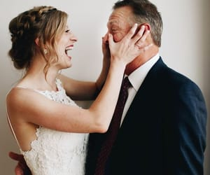 cry, wedding, and dad image