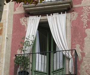balcony, europe, and pink image