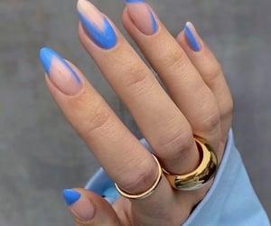 blue nails, long nails, and acrylic nails image