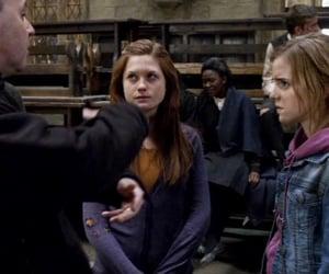 harry potter, bonnie wright, and emma watson image