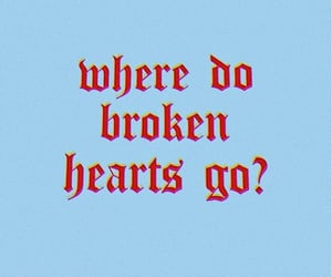 aesthetic, blue, and brokenheart image