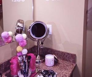 bathroom, candles, and girl stuff image