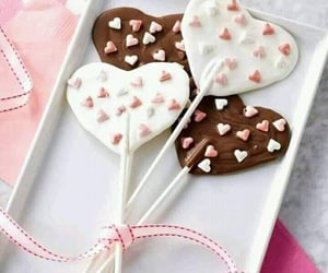 chocolat, heart, and lollipop image