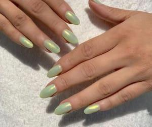 nails, green, and beautiful image