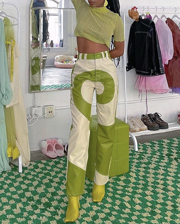 aesthetic, outfit, and green outfit image