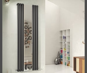 home interior, vertical radiators, and desidn image