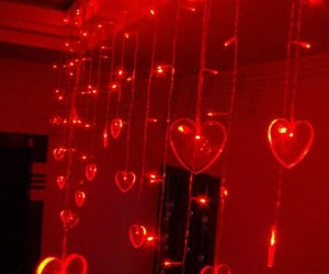 red, aesthetic, and heart image