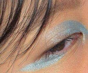 blue eyeshadow, fashion, and woman image