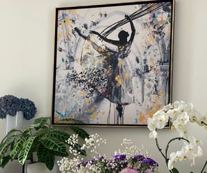 art, painting, and flower image