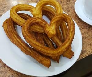 churros, heart, and madrid image