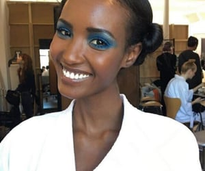 blue eyeshadow, fashion, and model image