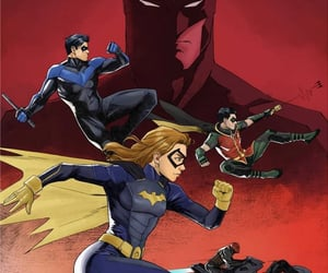 batgirl, robin, and nightwing image