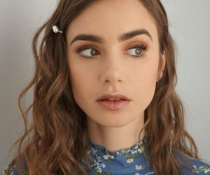lily collins, actress, and brunette image