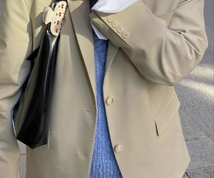 blue sweater, street style, and white shirt image