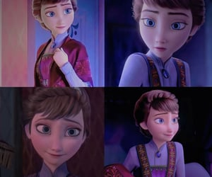 anna, disney, and mother image