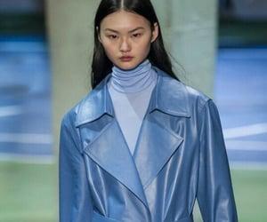 fashion show, céline, and blue coat image