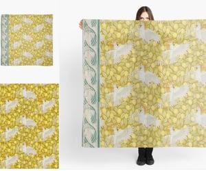 art nouveau pattern, animal scarf, and fish pattern image