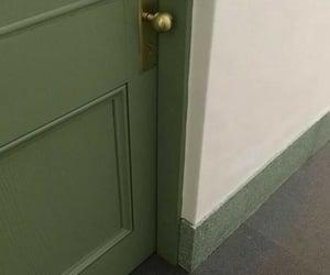 green, aesthetic, and door image