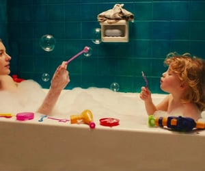 film, mother daughter, and bathtub image